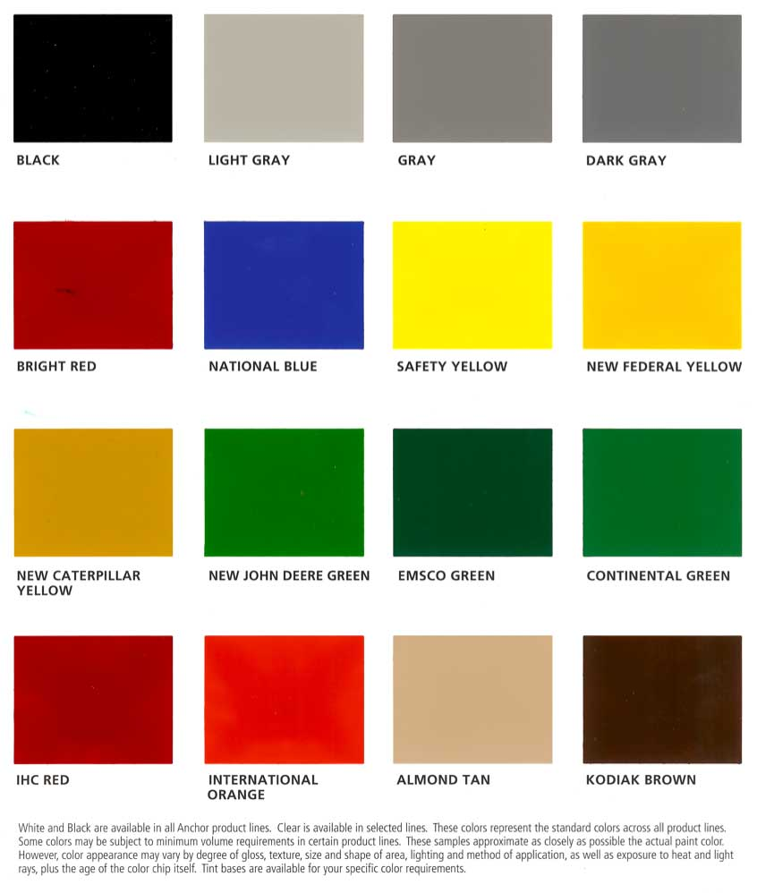 Anchor Paint Industrial Colors